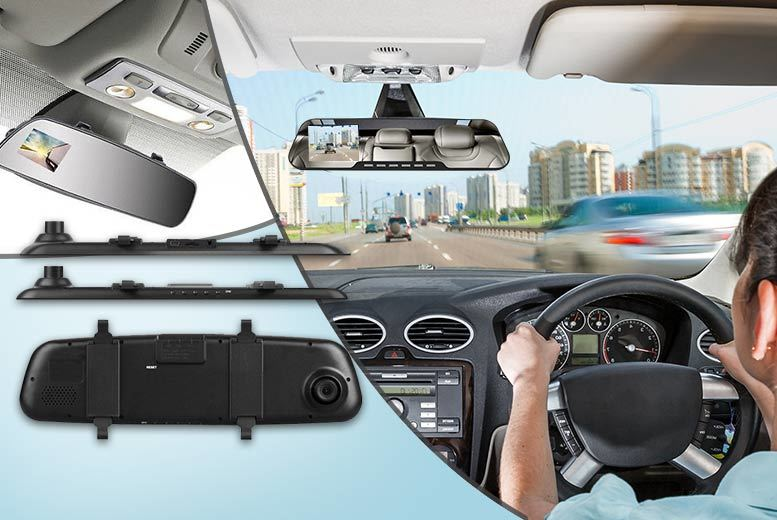 Rear View Mirror Clip-on Accident Camera