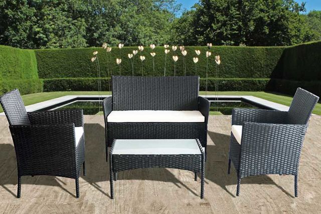 Garden Furniture Colours 4pc rattan garden furniture set - 3 colours!