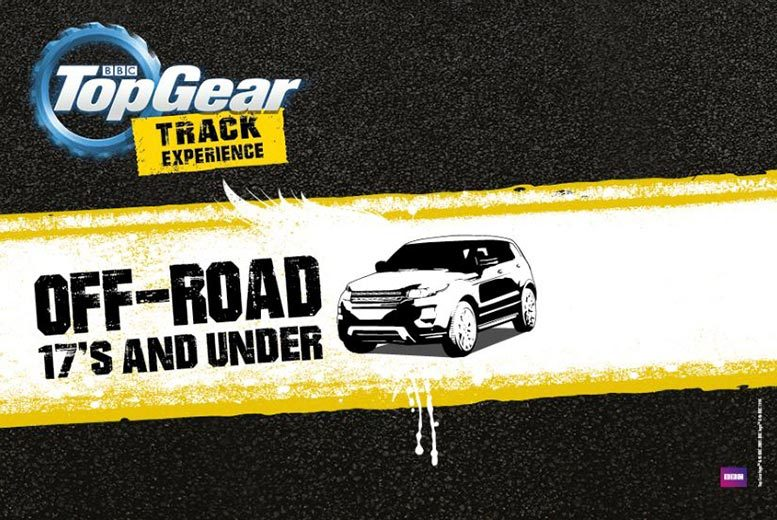 £45 for a BBC Top Gear under-17s off-roading experience in a Range Rover 4x4 with Top Gear Track Experience, Guildford - put the pedal to the metal!