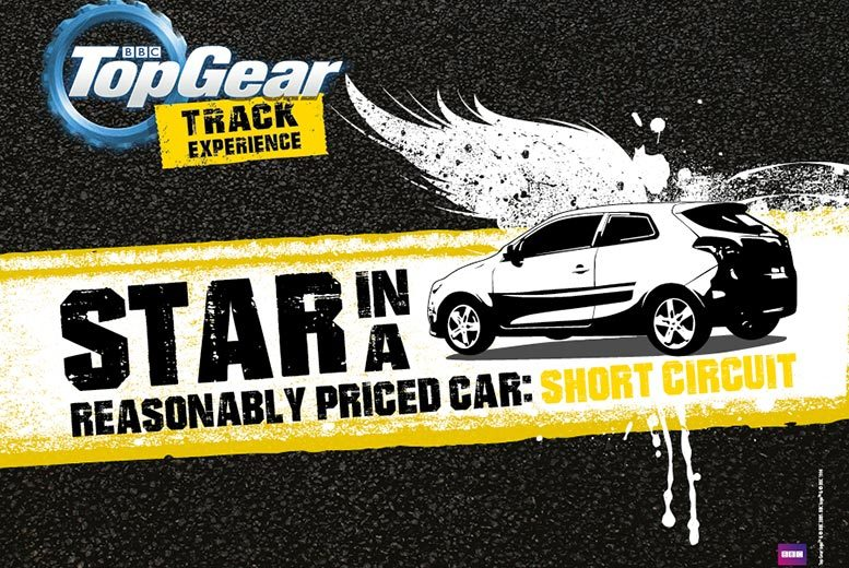 £85 for a BBC Top Gear 'Star in a Reasonably Priced Car' short circuit track experience and studio access with Top Gear Track Experience, Guildford!