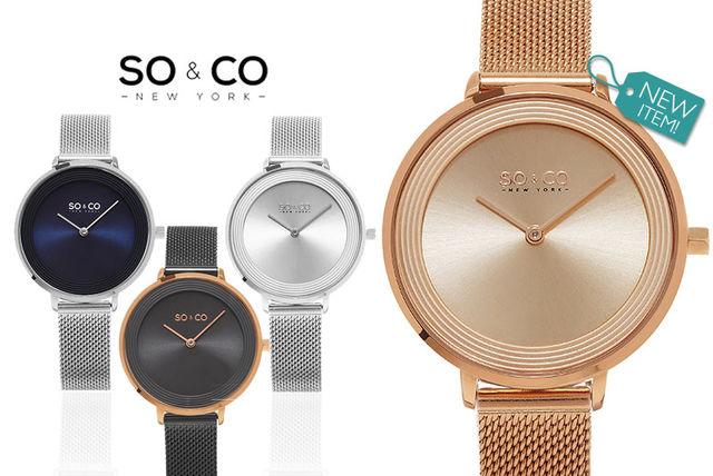 Ladies luxury SO&CO Mesh Watch