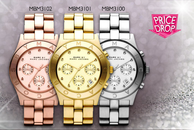 £99 instead of £262.01 for a silver, gold or rose gold Marc Jacobs watch - save 62%