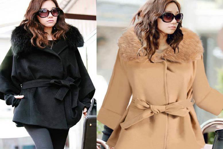 Belted Faux-Fur Coat - 2 Colours!