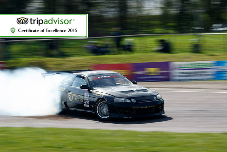 £59 instead of £199 for a drifting experience, £109 for two people, £199 for four or £299 for six at Flatout Factory, Birmingham Wheels or Brands Hatch - save up to 70%
