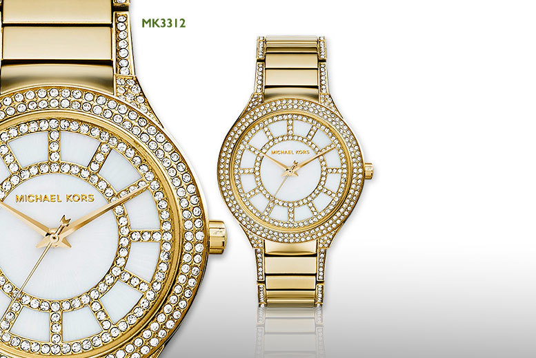 £139 instead of £255.01 for a ladies' Michael Kors Kerry watch - choose from gold, silver or rose gold colours and save 45%
