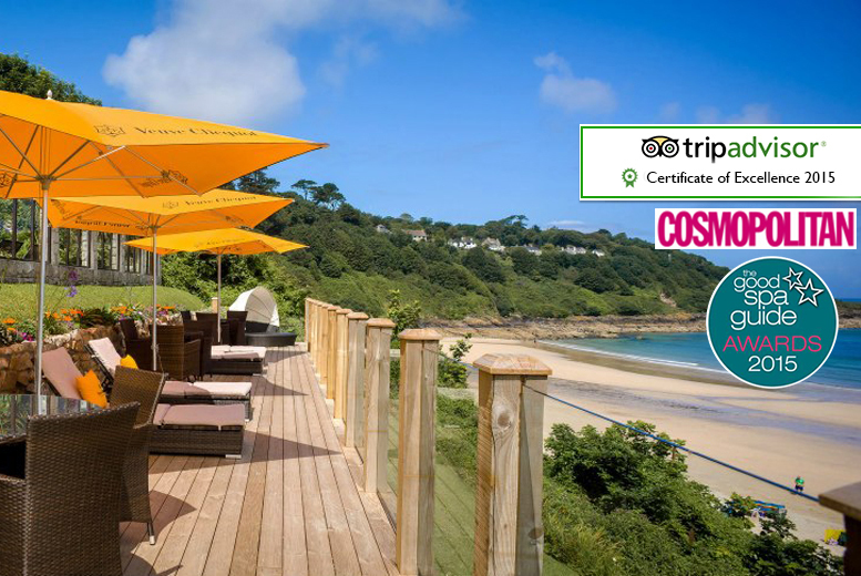 £129 (at Carbis Bay Hotel) for a luxury St Ives break for two inc. spa access, a two-course dinner, breakfast and late checkout, £229 for two nights - save up to 57%