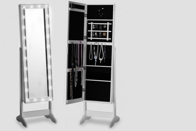 LED Mirror & Jewellery Cabinet