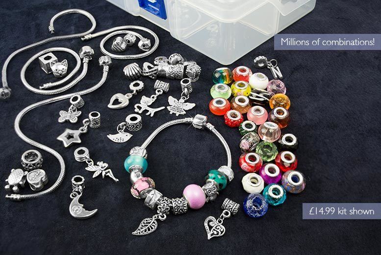 £9.99 instead of £34.99 (from Marcus Emporium) for a small charm bracelet kit, or £14.99 for a large kit - save up to 71%