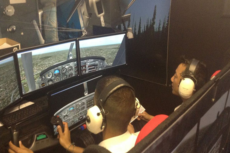 £49 for a one-hour flight simulator experience for one person, or £79 for two people with Fly By Light, Hertfordshire - save up to 51%