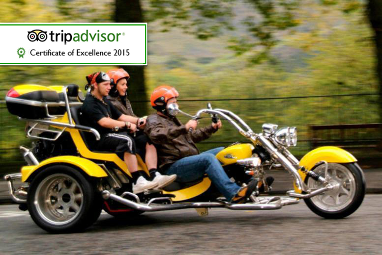£89 instead of up to £230 for a one-hour trike tour for two including equipment, photos, hot refreshments and shortbread with Trike Tours Scotland - save up to 61%