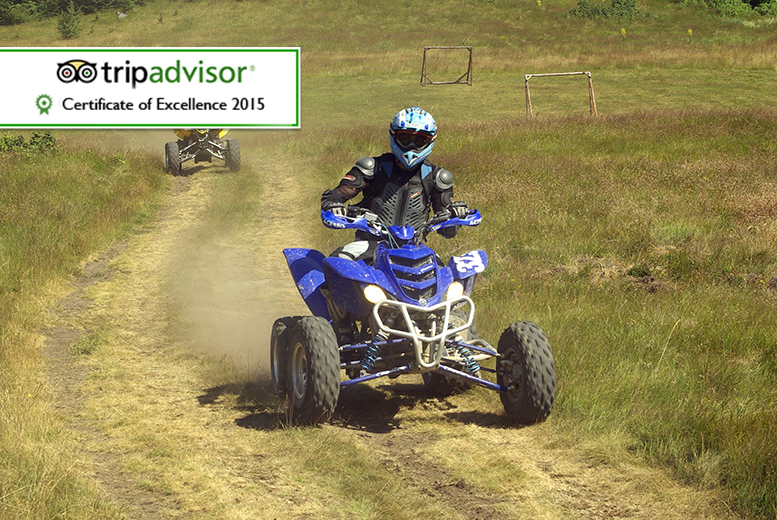 £45 instead of £100 for a 45-minute quad biking session for two people at Off Limits, Grantham - save 55%
