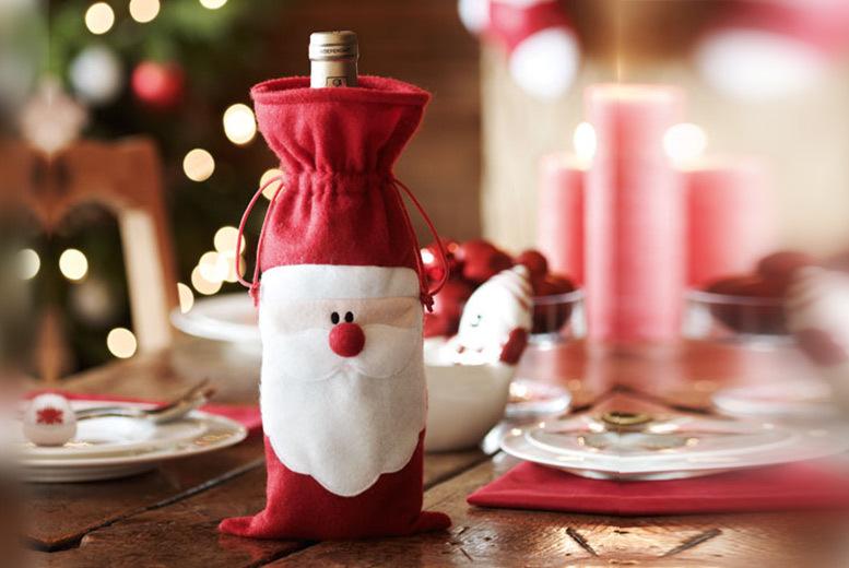 Santa Claus Wine Bottle Cover