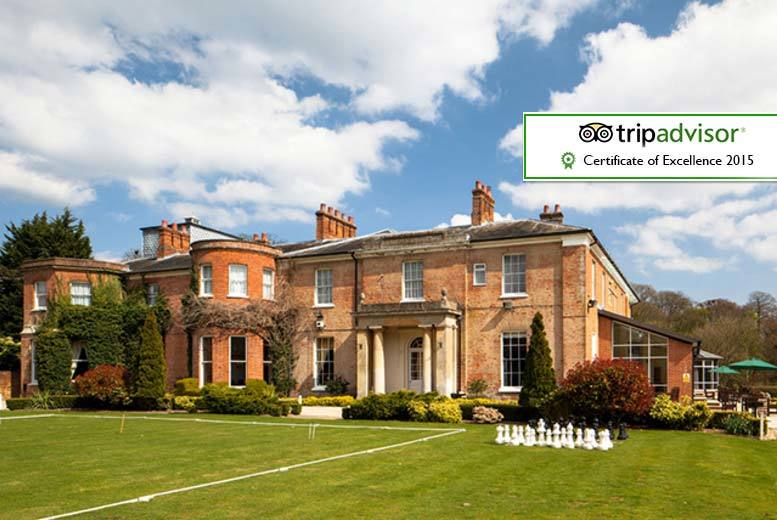 4* Berkshire Country Manor Stay, Dinner and Breakfast for 2