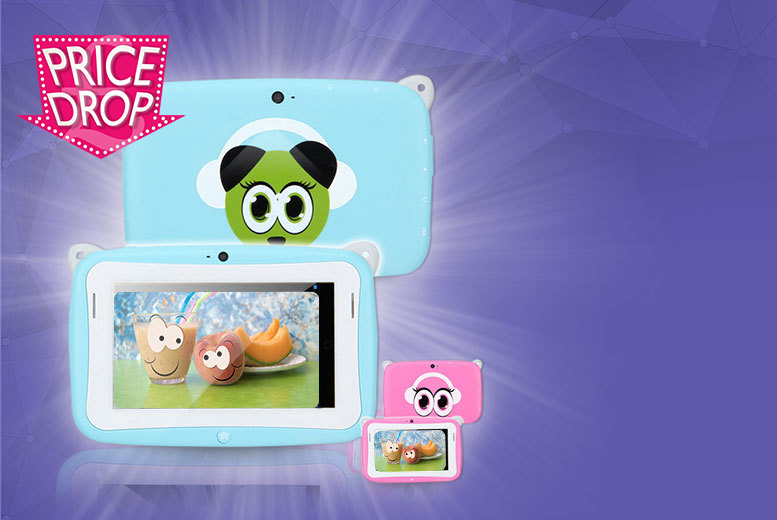 £19 instead of £99.99 for a children's Android panda tablet - choose from two colours and save 81%