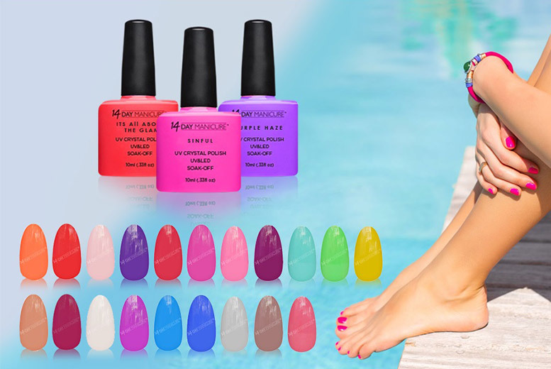 3 Gel Nail Polishes – 47 Colours! from £14.99