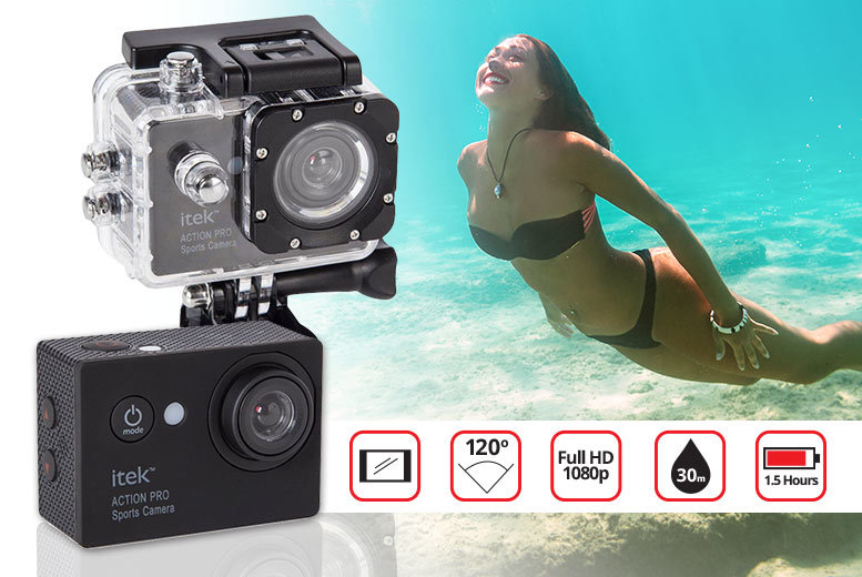 iTek 1080P Action Camera from £29