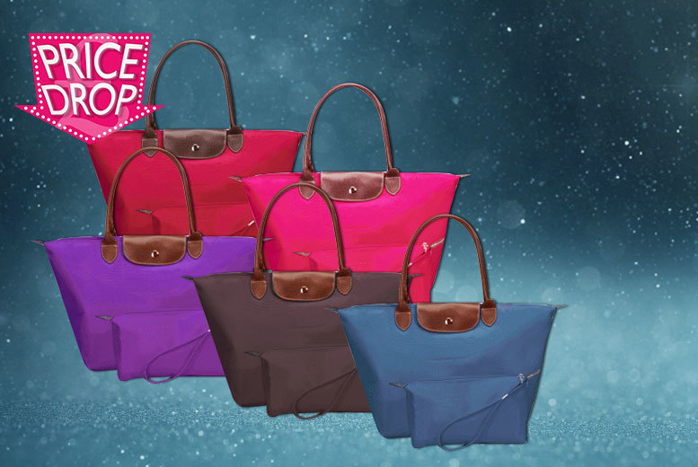 £4.99 instead of £39.99 for a designer-inspired tote bag set - choose from five colours and save 88%