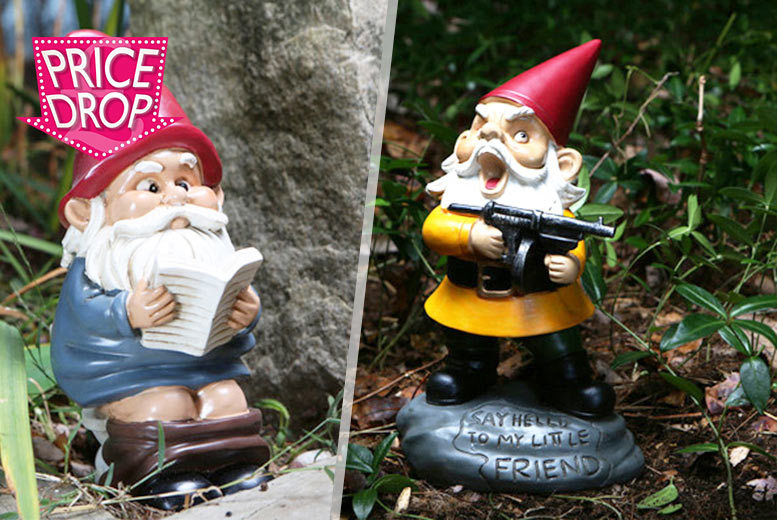 £10.99 instead of £26.99 for a naughty garden gnome - choose from seven sassy gnomes and save 59%