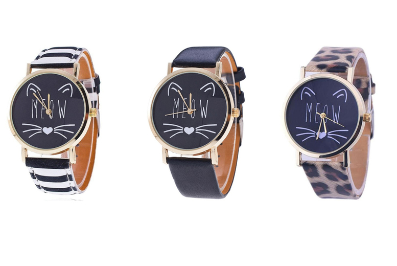'Meow' Cat Watch - 3 Designs!