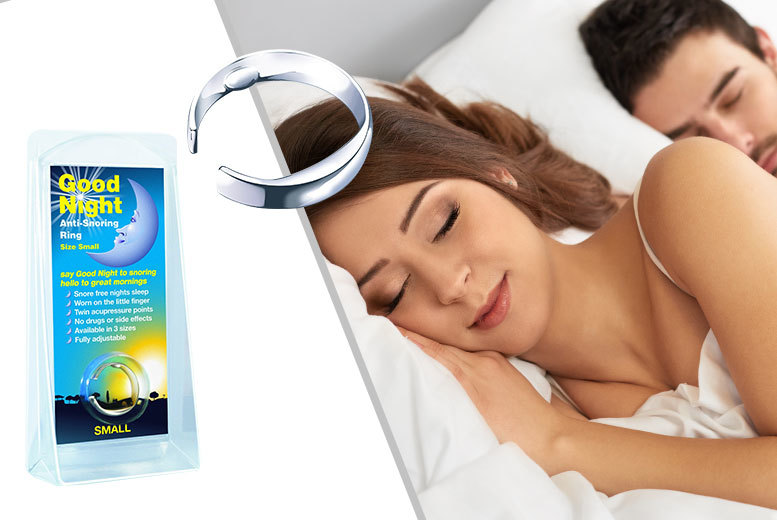 £4.99 instead of £29.99 (from Gift Right) for an 'anti-snore' sleeping aid ring - save 83%