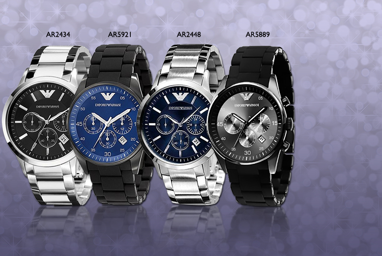 From £149 for a men's Emporio Armani watch - choose from four designs and save up to 56%