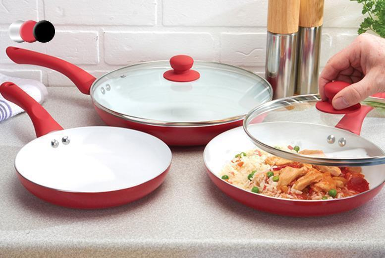 £17.99 instead £129.95 (from Jean-Patrique) for a five-piece non-stick ceramic pan set - save 86%