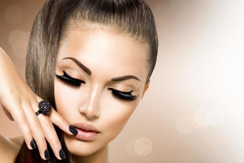 Eyelash Extensions or Semi-Perm Eyelashes with Eyebrow Wax
