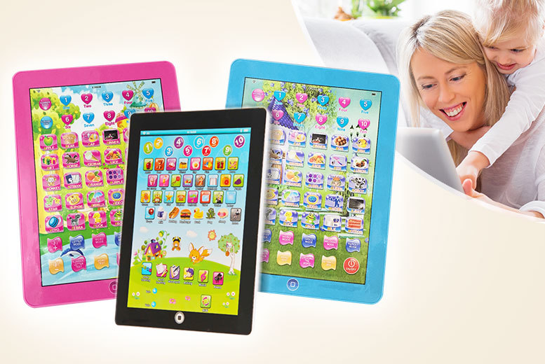 £6.99 instead of £18.99 (from UK Home and Garden Store) for a kids' my first tablet - choose white, pink or blue and save 63%