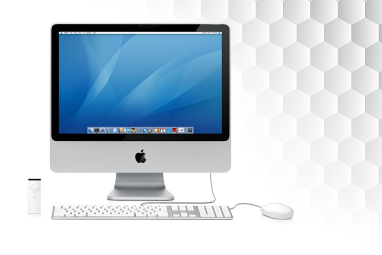£350 for a grade A refurbished 20″ Apple iMac Core 2 Duo 2GB desktop computer with wireless keyboard and mouse, £380 for 4GB