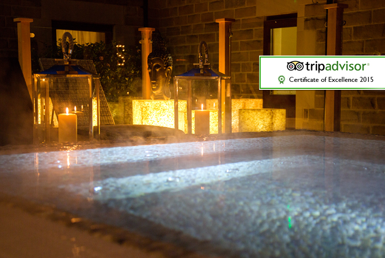 £169 (at The Three Horseshoes Inn) for an overnight stay for two with spa treatments, dinner and breakfast, £199 for a garden room with private hot tub - save up to 44%