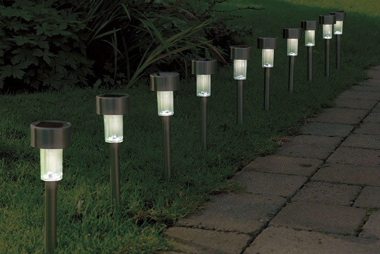 5 or 10 Solar LED Post Lights from £6