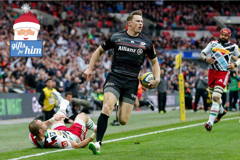 £7.50 for a child's ticket or £15 for an adult ticket to see Saracens vs. Harlequins at Wembley Stadium - all customers will be entered into a random ticket upgrade draw!