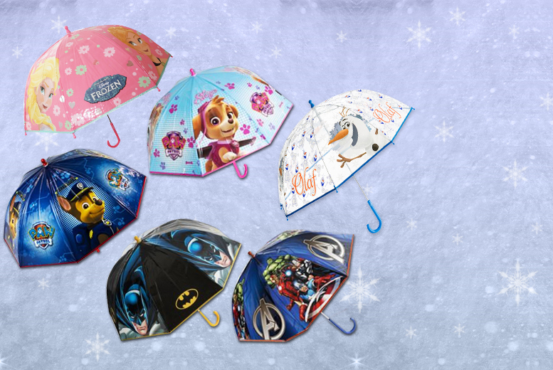£4.99 instead of £24.95 for a kids\' Disney umbrella in a choice of six designs - save 80%