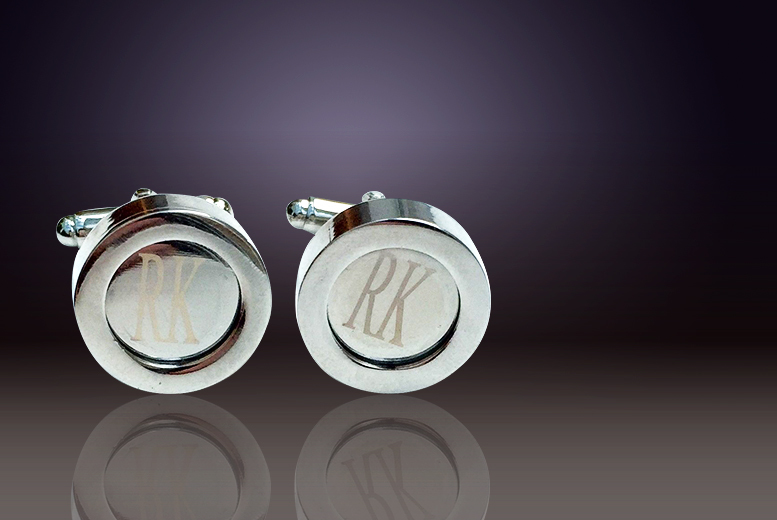 £10 instead of £59.14 (from Marcus Emporium) for a pair of 925 silver-plated personalised initial cufflinks - save 83%