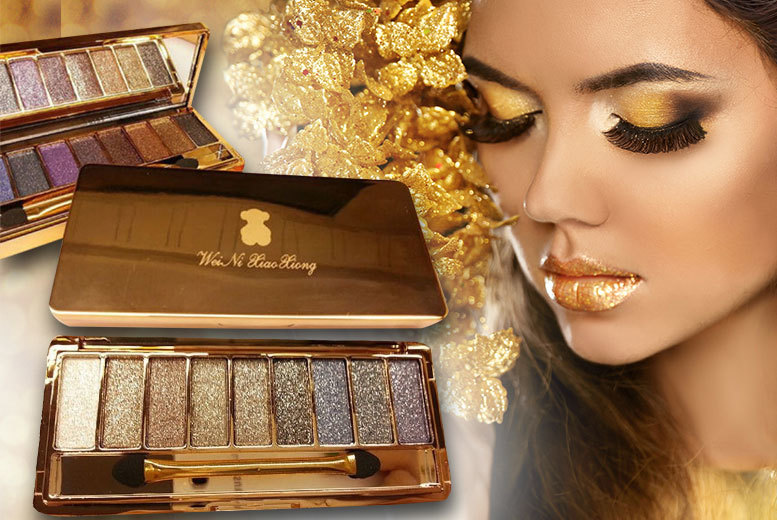 £3.99 instead of £24.99 (from Alvi's Fashion) for a nine-colour glitter eyeshadow palette - choose from two colour combos - save 84%