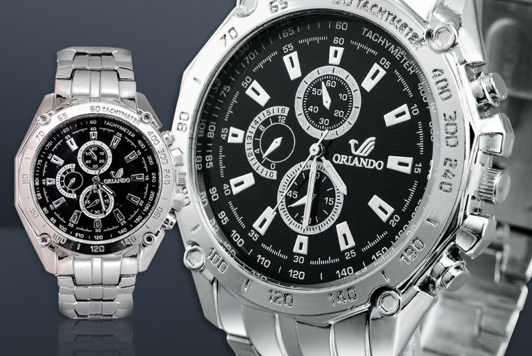 £7.99 instead of £39.99 (from Fakurma) for a men\'s Orlando watch - choose from four designs and save 80%