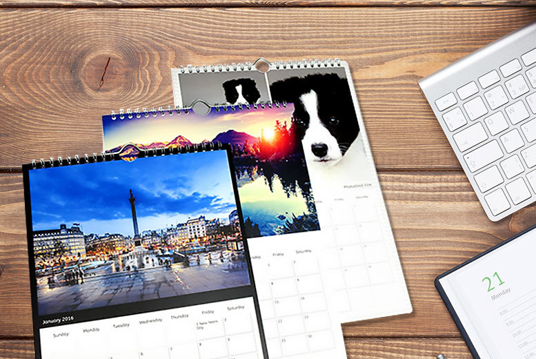 £6 instead of £14.98 (from Pixa Prints) for a personalised A3 photo calendar, £10 for two calendars or £13 for three calendars - make a great gift and save up to 60%