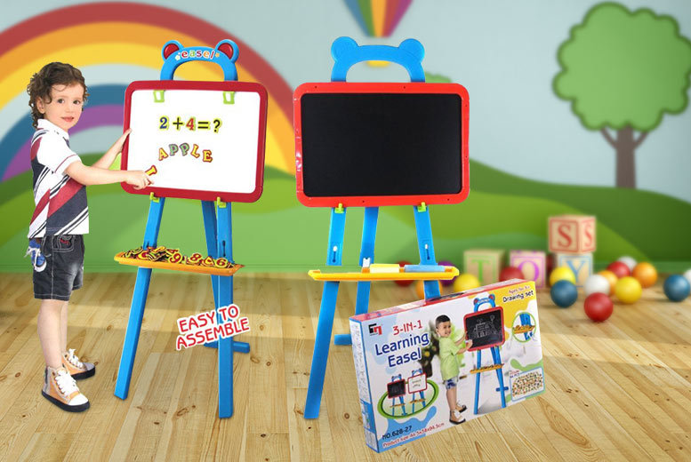 £12.99 instead of £49.99 (from Funky Buys) for a large double-sided easel for kids - save 74%