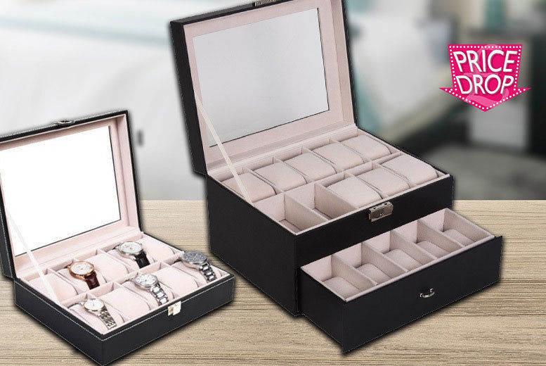 Faux Leather Watch Box – 4 Sizes! from £11