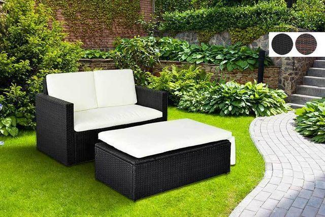 rattan love sofa set