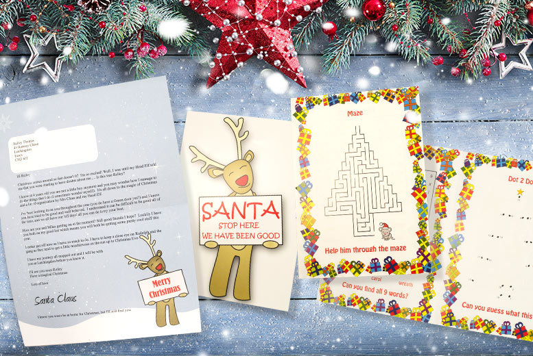 £2.50 instead of £9.99 (from Xmas Letters) for a personalised Santa letter, \'Santa Stop Here\' sign and \'good list\' certificate - save 75% + DELIVERY INCLUDED!