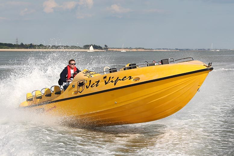 £19 for a two-hour Jet Viper powerboating experience for one person, £37 for two people or £70 for four people with Saber Powersports - save up to 73%