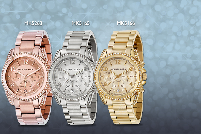 From £139 instead of up to £259 for a ladies' Michael Kors bracelet watch - choose from three designs and save up to 46%
