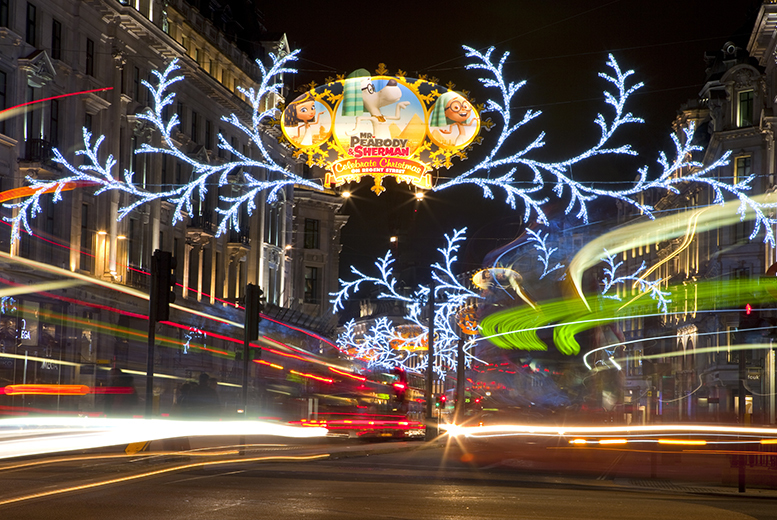 £9 for a child ticket for a 90-minute open top bus tour of London's Christmas lights, £12 for an adult ticket with Abbey Tours - save up to 53%