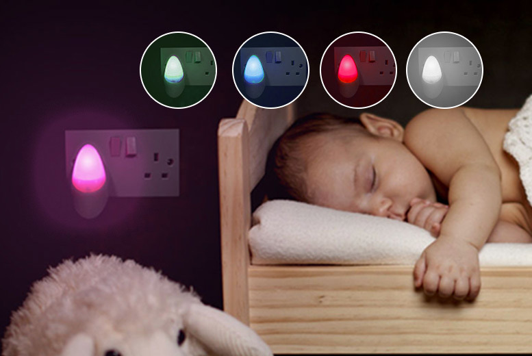 Automatic Soft Glow LED Night Light – 5 Colours! from £3.99