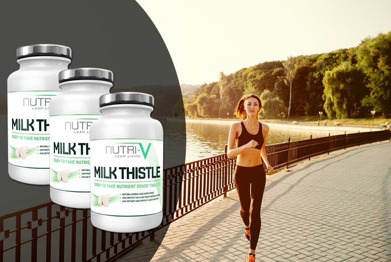 £7.99 instead of £59 for a six-month* supply of milk thistle supplements - save 86%