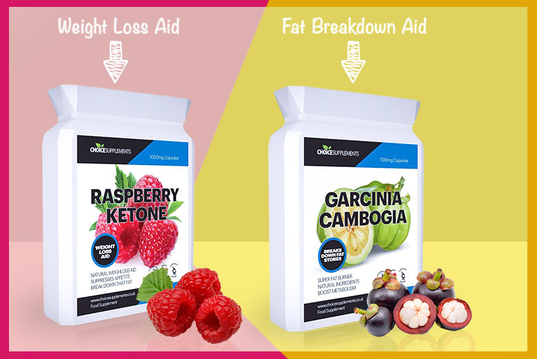Raspberry Ketone & Garcinia Weight Management Capsules – 1 or 3mth* Supply! from £9