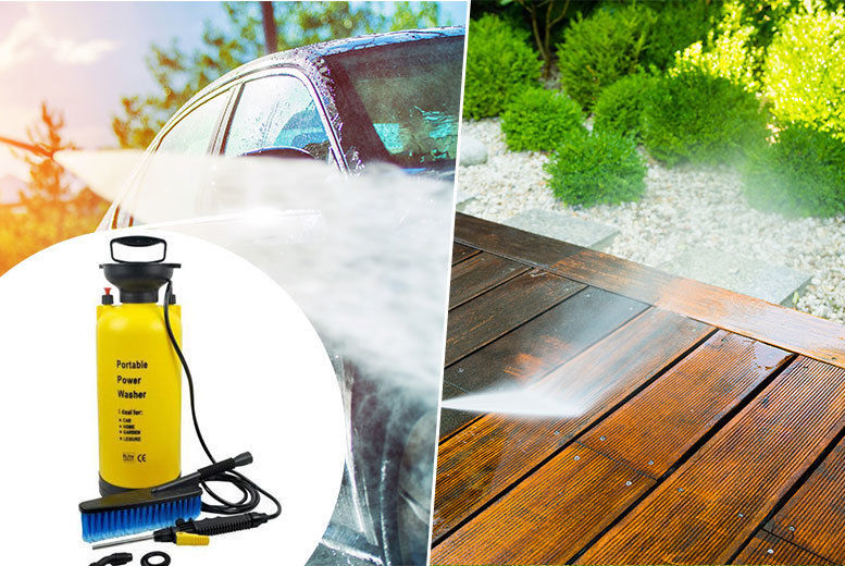 8L Portable Pressure Washer from £12