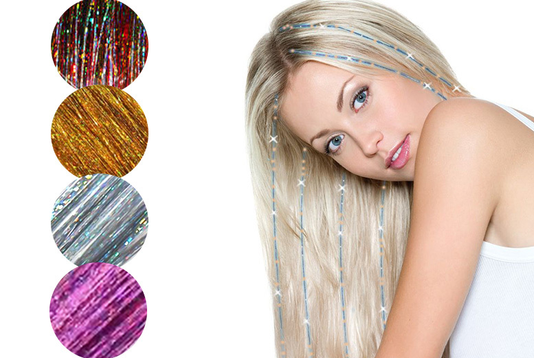 Hair Tinsel Bling Extensions – 4 Colours! from £2.99