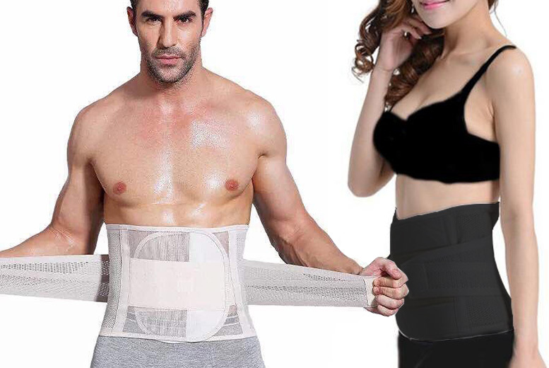 Unisex Waist Training Belt – 2 Sizes, 2 Colours! from £12